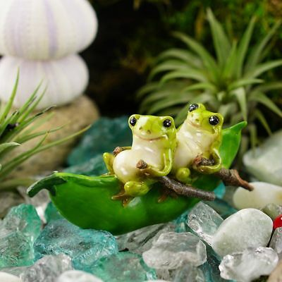 Miniature Fairy Garden Frogs Rowing Peapod Boat - Buy 3 Save $5