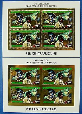 Raumfahrt Space 1982 Central Africa Zentralafrika 868 A/B Perf Imperf MNH/742