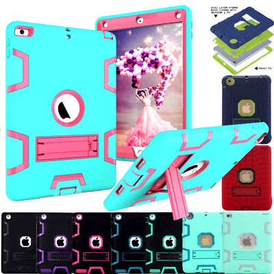 HEAVY DUTY SHOCKPROOF STAND CASE COVER LOT FOR iPad 4 3 2 Mini 2/3 Air 1/2 9.7