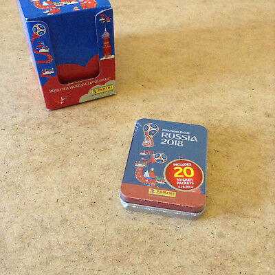 Panini Fifa World Cup Russia 2018 Sticker Tin Contains 20 Sticker Packets New