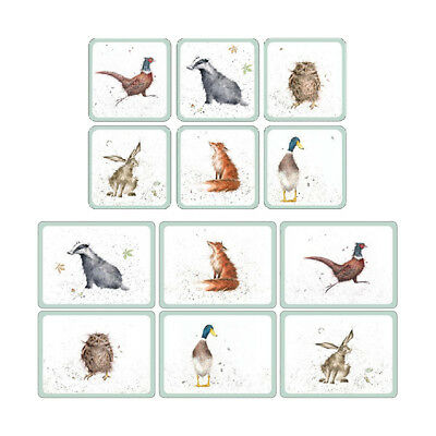 Wrendale Coasters or Placemats Set of 6 Cork Backed