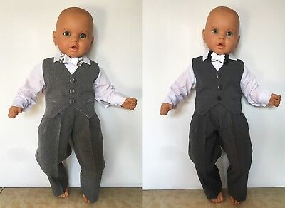 Baby Boy Christening Baptism Party Smart Suit Summer Outfit Light Grey 0 - 24 m