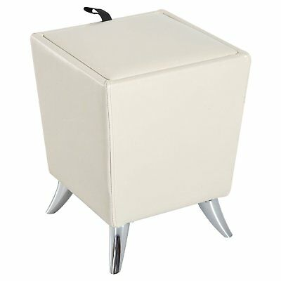 HOMCOM Cube Storage Stool Living Room Faux Leather Ottoman Modern Style Footrest
