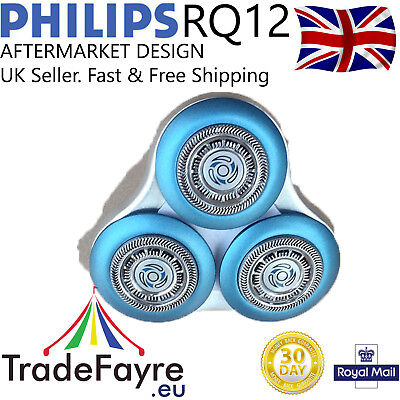 Philips Rq10 Rq12 Rq12+ White Aftermarket Replacement Head / Foils / Cutters