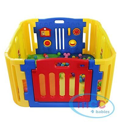 MCC Plastic Baby Playpen with Activity panel & corner extensions 8 pcs
