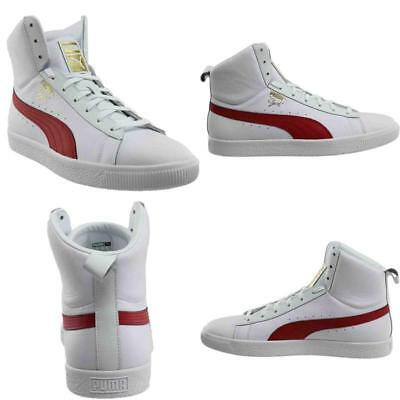 456f0e13a28805 PUMA CLYDE MID Core Foil Mens White Leather High Top Lace Up ...