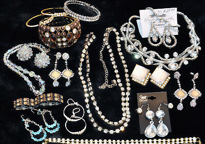 Vintage Now ESTATE Mixed Jewelry LOT 5LB Gold Silver tone faux pearls rhinestone