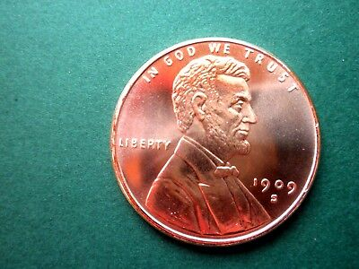 1909 S Lincoln Wheat Cent 1OZ Copper Round