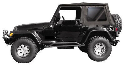 Replacement Black Soft Top and Rear Tinted Windows 97-2006 FOR Jeep Wrangler TJ