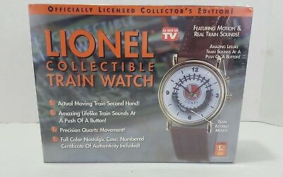 Mens Lionel Collectible Train Watch Motion and train sounds New in Box
