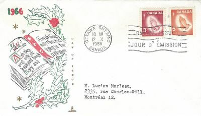 1966 Christmas #451-2 Praying Hands FDC with Capital cachet