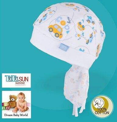 100% Cotton SUN hat Headscarf Summer BABY BOYS Infant Bandana 6-18 months HATS