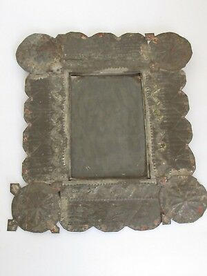 Antique New Mexican Isleta Pueblo Tin Frame