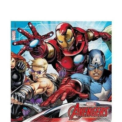 Mighty Marvel Avengers Napkins 2ply paper Party Tableware Birthday Boys Girls
