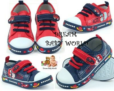 AMERICAN CLUB BOYS Canvas shoes trainers BABY BOY Real leather insoles 4 - 8 UK