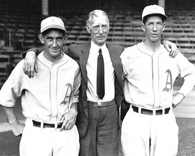 MICKEY COCHRANE CONNIE MACK  AND LEFTY GROVE ATHLETICS HOF GREATS  8x10