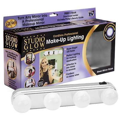 AS SEEN ON TV! Studio Glow Cordless Make-Up Lighting  Free Ship New !!
