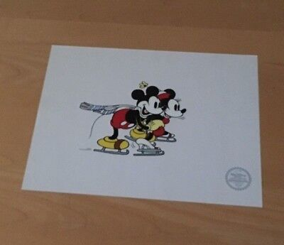 Disney Mickey Mouse and Minnie On Ice sericel   11''   x    14''