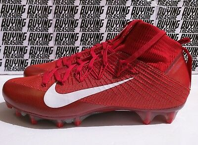 98fa05e6bff NIKE VAPOR UNTOUCHABLE 2 Football Cleats Size 12.5 Varsity Red White  824470-616