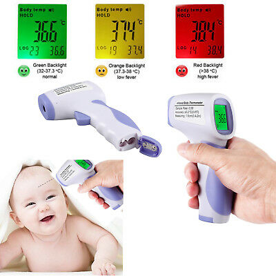 LCD Digital Non-contact IR Infrared Thermometer Body Temperature Meter 3 Colors
