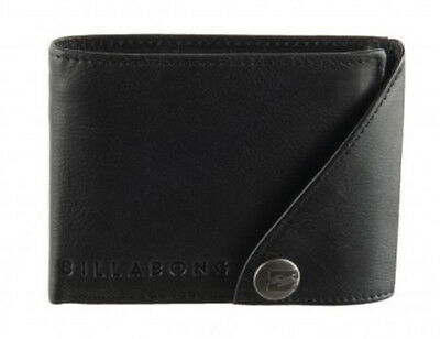 Wallet Leather Billabong Black New S Mens 2 1 Gift New Men Scope Rrp 60 Tags Tag