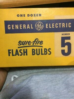 12 Pack General Electric Sure Fire  Flash bulbs Number 5