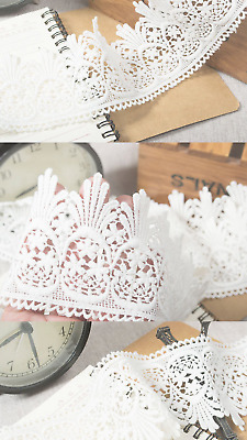 Ivory 7.5cm Trim Tassel Fringe Cotton Poly Lace Ribbon Price per 30cm DIY Craft