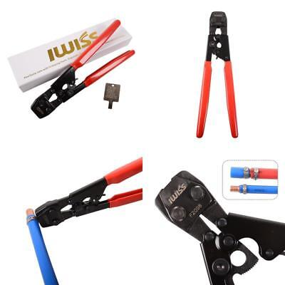 IWISS PEX Ratcheting CINCH Crimping Tool Crimper for Stainless Steel Clamps from