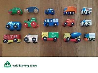 EARLY LEARNING CENTRE ELC wooden toy cars,trucks and other vehicles ...