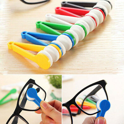 5 Color Lens Microfibre Optic Brush Wipers Cleaner Glasses Spectacles Eyeglasses