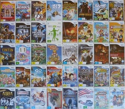 NINTENDO WII ORIGINAL GAMES , selling my collection