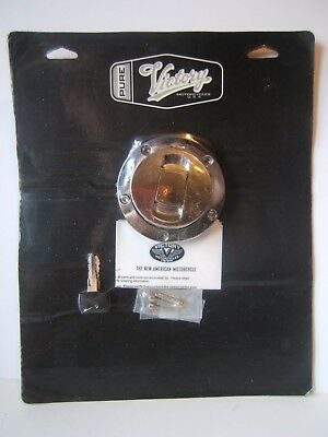 New Sealed Victory Motorcycle Chrome Fuel Cap w/ Key Pure Polaris 2875305