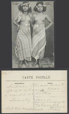 Native Moorish Young Girls Women Ladies Costumes, Jeunes Mauresques Old Postcard