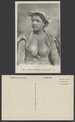 Femme Arabe, Native Arab Woman, Costumes Scenes and Types Old Postcard L.L. 6404