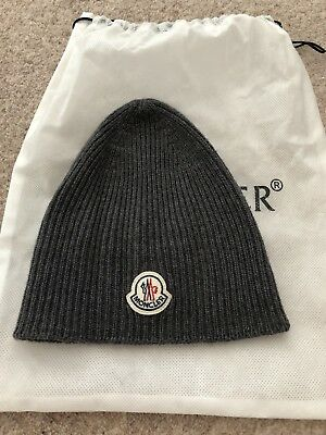 7114ee12 MONCLER GRENOBLE Ribbed Beanie Hat in blue - £50.00 | PicClick UK