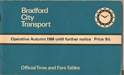 Bradford city transport timetable book trolley bus jubilee for 99 bus table