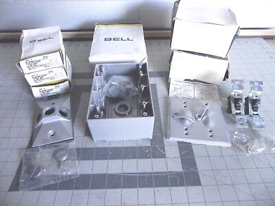 LOT OF 6 BELL MISC. (3) 373 CLUSTER COVERS (2) 216-2 COVER SWITCHES *see photos
