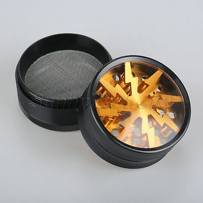 Gold Tobacco Herb Spice Grinder Herbal Alloy Smoke Metal Crusher Spice Herb