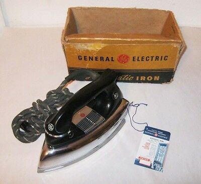 1950s GE Automatic Cloths Iron General Electric No. 139F23 115V 1000W