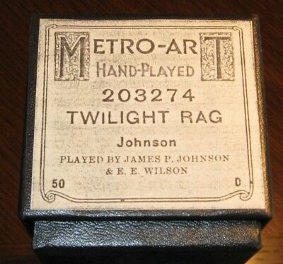 "James P. Johnson's Composition ""twilight Rag""  Recut Piano Roll 0518"