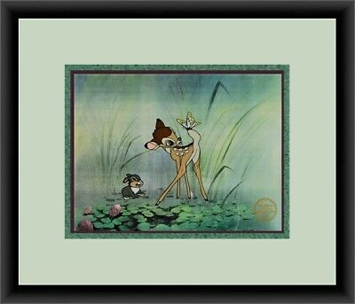 Walt Disney L/ED Bambi & Thumper Animation Sericel Custom Framed FREE SHIPPING