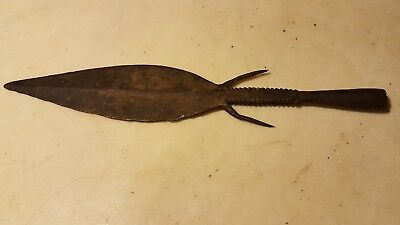 Antique Fish Frog Eel Gig Spear Blacksmith Hand Forged * Exceptional*