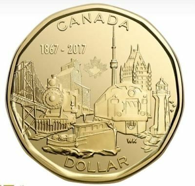 2017 Canada 150 Special Edition $1 Dollar Coin Connecting A Nation UNC