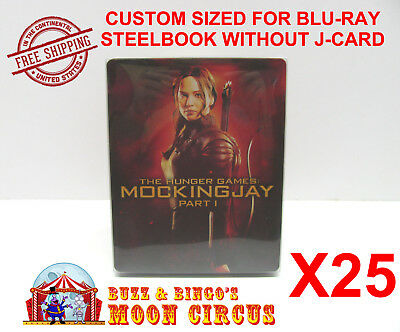 25x BLU-RAY STEELBOOK CLEAR PROTECTIVE SLEEVE - BOX PROTECTORS - NO J-CARD SIZE