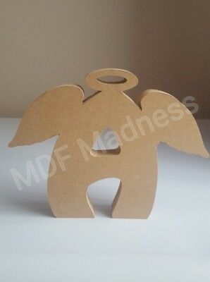18MM FREE STANDING 15CM HIGH MDF CRAFT SHAPE WOODEN BOY AND GIRL