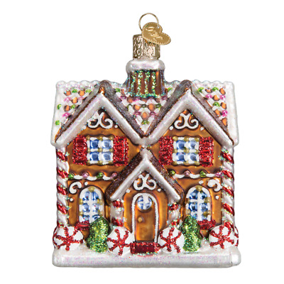 """""""Christmastime Cottage"""" (20075)X Old World Christmas Glass Ornament w/ OWC Box"""