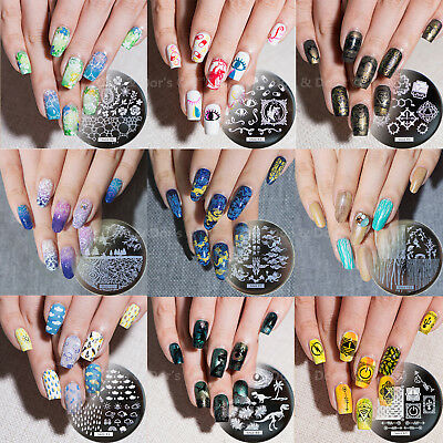 2019 New Nail Art Design Stamping Plates Plant Science Image Stamp Template Hehe