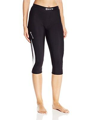 SKINS Women's DNAmic Thermal Compression 3/4-Capri Tights, Black/Cloud, X-Large