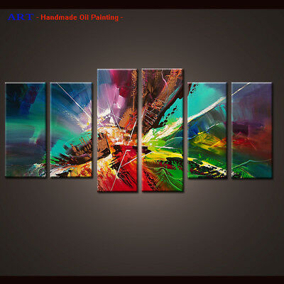 Framed Canvas Wall Art Modern Contemporary Abstract Oil Painting Handmade df059