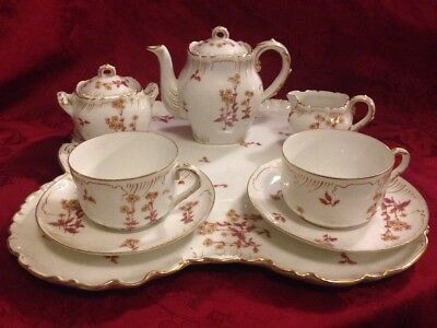 CH Field Limoges Tea Set For Two With Large Tray